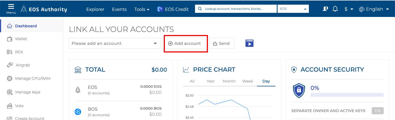 اضافه کردن حساب اسکاتر به eos authority