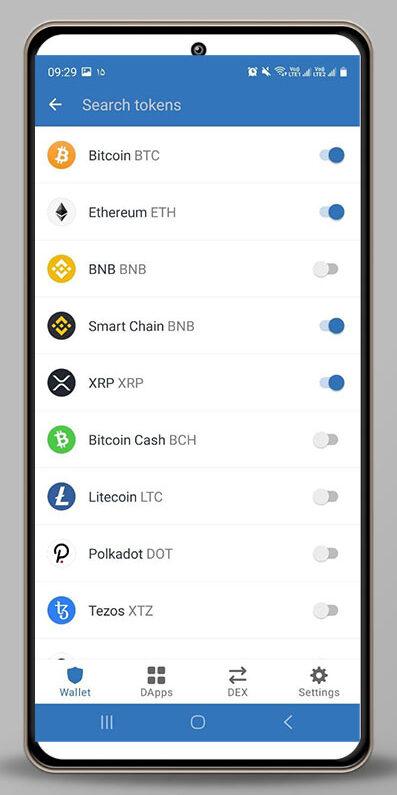 اضافه کردن رمز ارز های جدید به صفحه اصلی تراست ولت