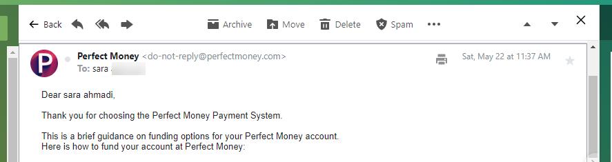 ثبت نام perfect money