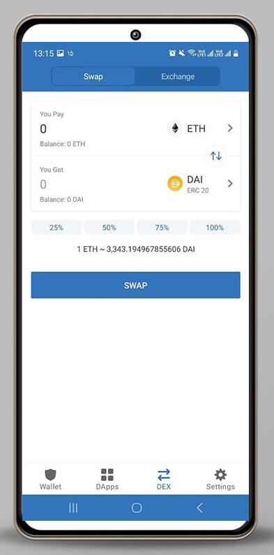 امکان تبدیل رمز ارز ها با swap در تراست ولت